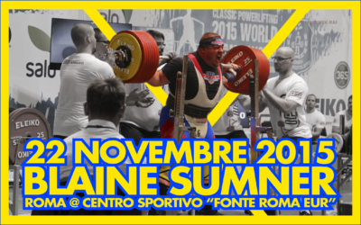BLAINE SUMNER – ROMA – NOVEMBRE 2015